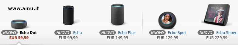 Dispositivi Echo Alexa